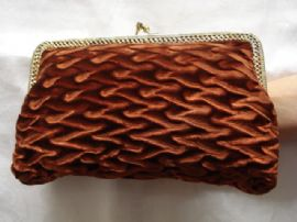 1970's Textured Velvet Bag - Use as Clutch or with Chain (SOLD)